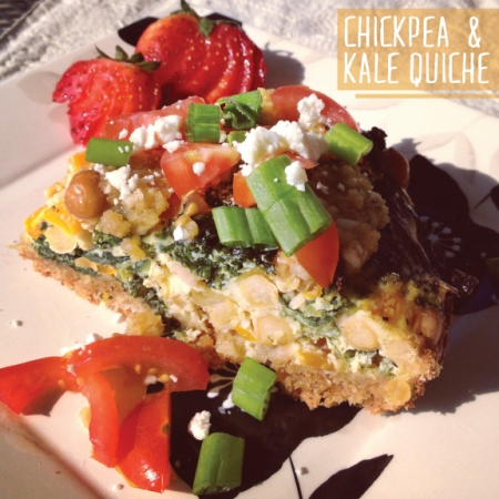Made with Love: Chickpea & Kale Quiche