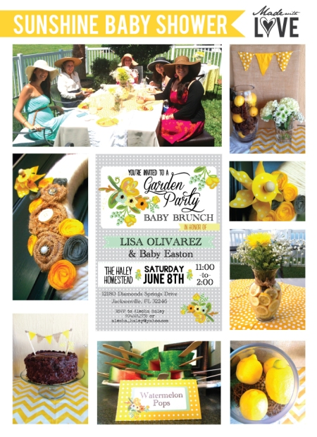 Made with LOVE: Sunshine Baby Shower