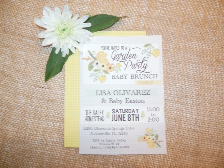 Made with Love: Sunshine Baby Shower Invitation