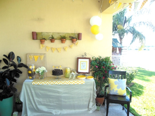 Baby Shower Food Table: Garden Party