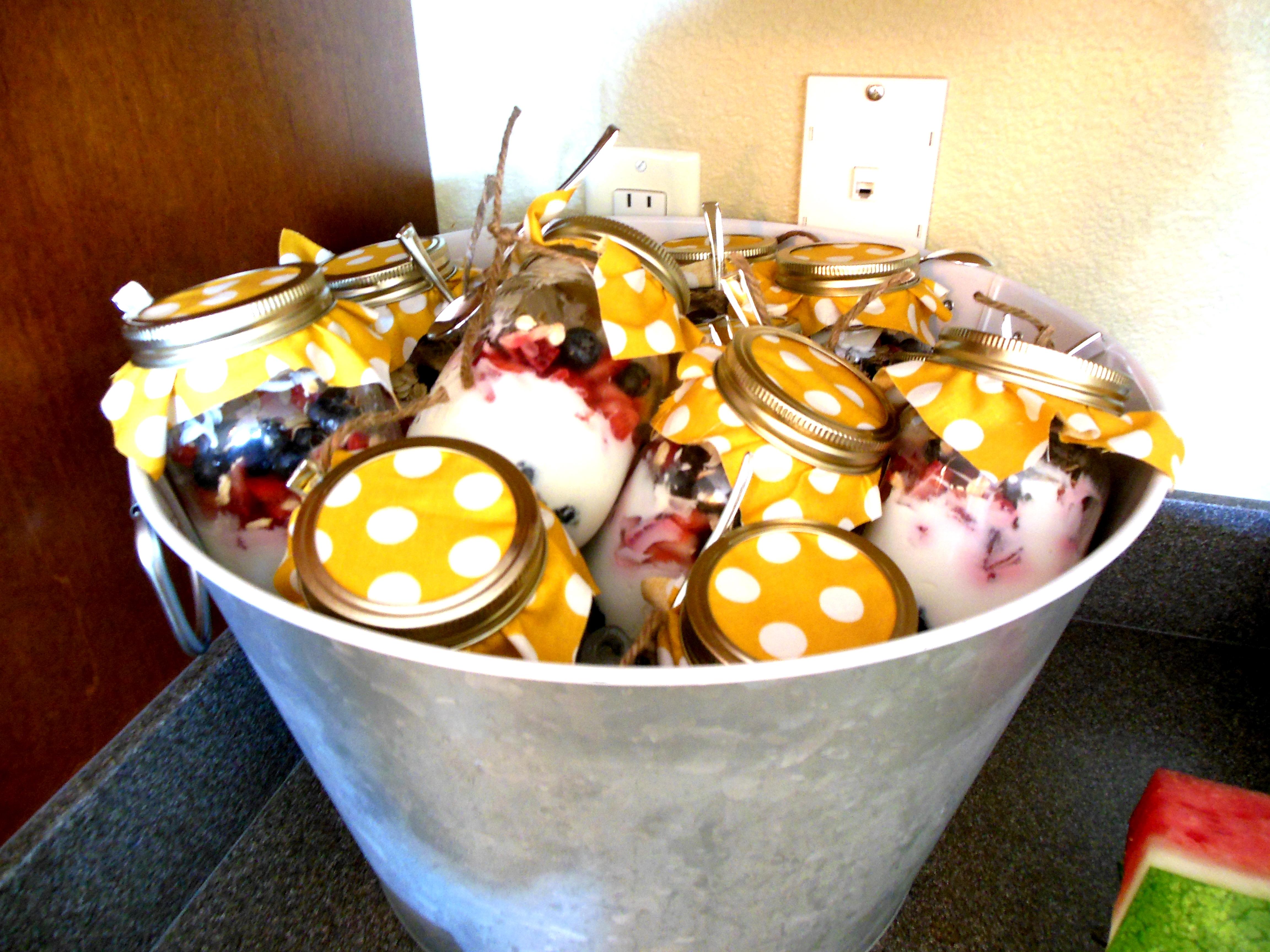 Made with Love: Yogurt Parfait's in mason jars