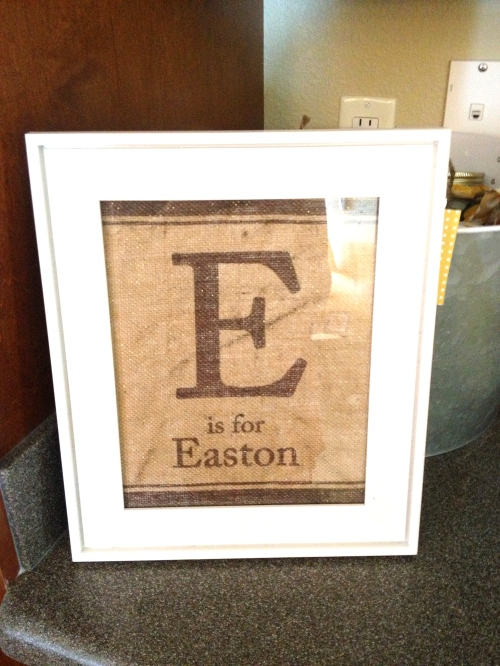 Printed on Burlap frame